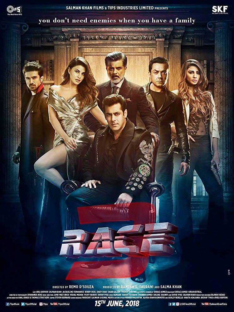Race 3 2018 Hindi PreDVDRip 480p 450MB MKV